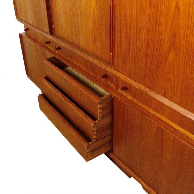 Rare Danish Modern Teak Highboard / Bar Cabinet - Image 3 of 9