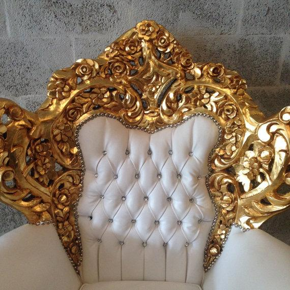 Gold and White Rococo Armchair - Image 3 of 6