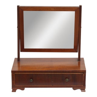 Early 19th Century Chippendale-Style English Mahogany Shave Mirror