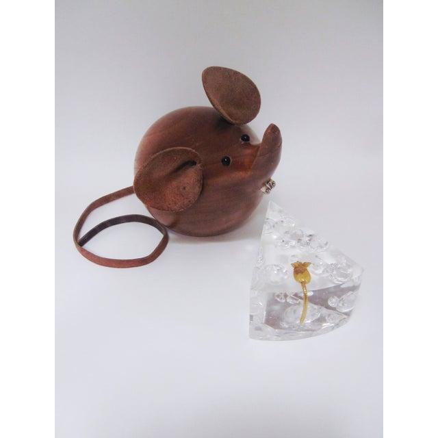 Image of Danish Modern Huge Teak Mouse