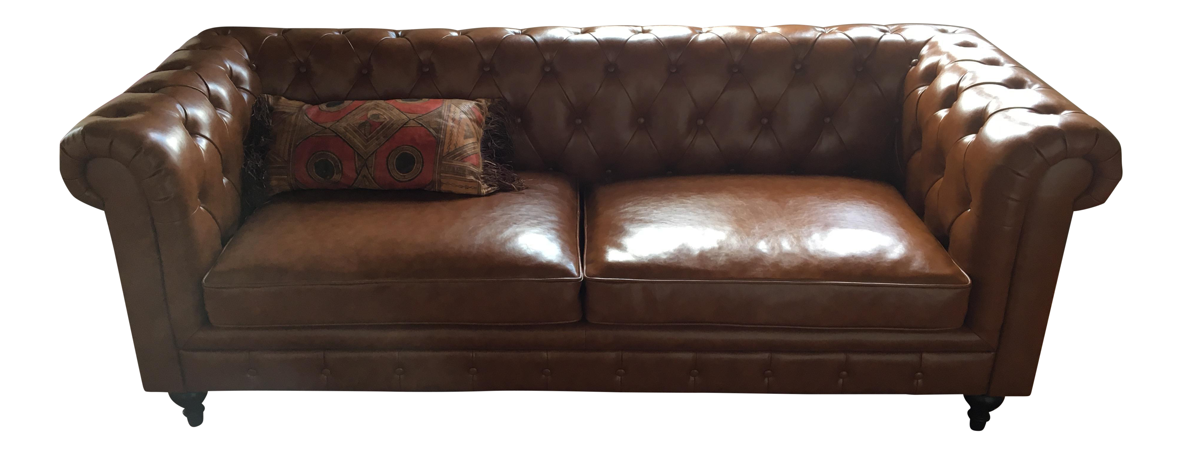 Brown Leather Chesterfield Sofa Chairish