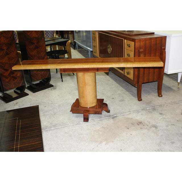 French Art Deco Palisander Console Table - Image 3 of 10