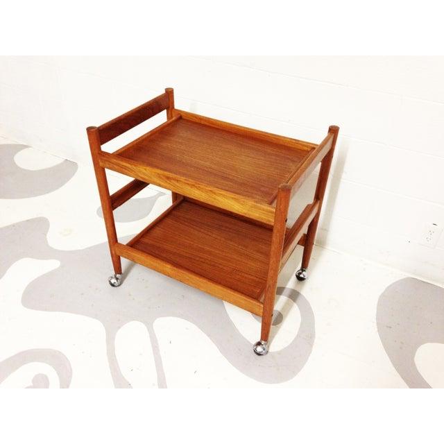 Mid-Century Teak Bar Cart - Image 5 of 7