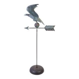 Copper Eagle Weathervane on Bell Pedestal