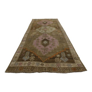 Vintage Turkish Oushak Runner, 5' x 14'