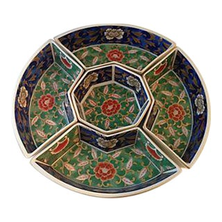 Imari Porcelain Divided Serving Dish