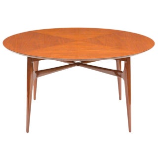 Edward Wormley Walnut Round Tea Table