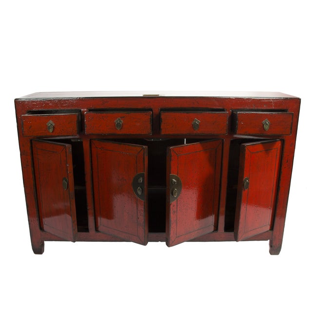 1890's Chinese Red Sideboard - Image 2 of 3