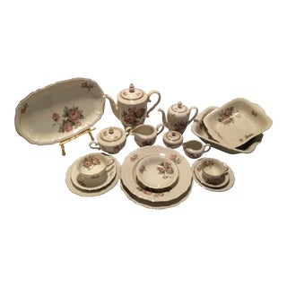 Johann Havilland Floral on Beige Background Dinner China Set - 81 pieces