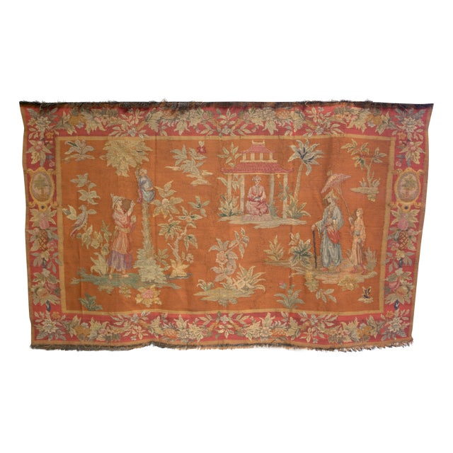 Antique Large Aubusson Tapestry - Image 1 of 4