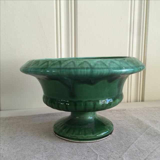 Mid-Century Green Pottery Vessel - Image 5 of 7