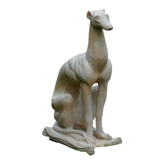 STYLISH SEATED GREYHOUND