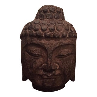 Vintage Carved Stone Buddha Head