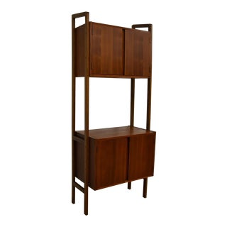 Mid-Century Modern Walnut Bookcase
