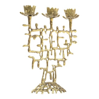 Brutalist Judaica Candleholder