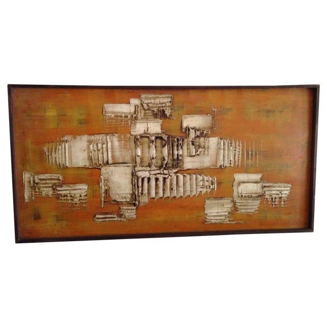 Image of Mid Century Impasto Oil Painting by Lynn Brazelton
