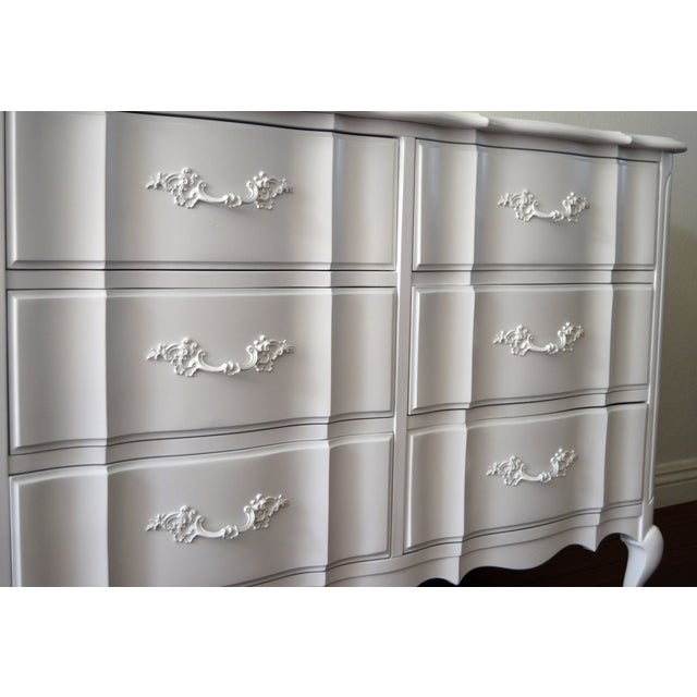 French Provincial White Dresser - Image 3 of 3