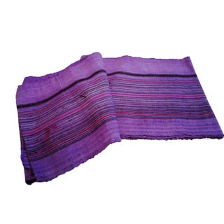 Purple Chinese Hemp Fabric