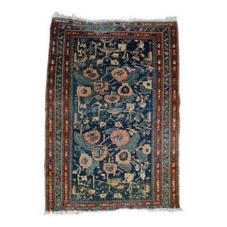Distressed Antique Persian Hamadan Rug - 3′4″ × 4′11″