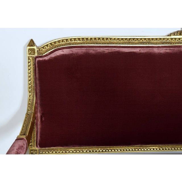 Vintage 1950s Louis XVI-Style Gilt Wood Sofa - Image 3 of 9