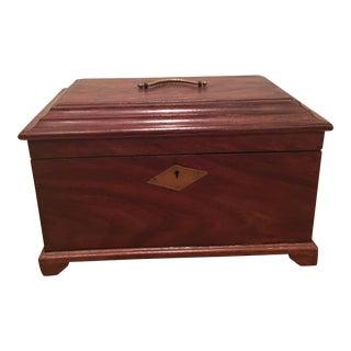 Antique Mahogany Locking Box