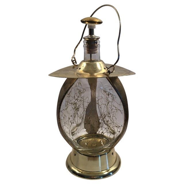 """Lantern Decanter Music Box Plays """"How Dry I Am"""" - Image 1 of 6"""