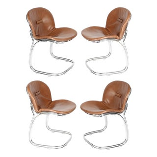 "SET OF 4 ""SABRINA"" CHAIRS BY GASTONE RINALDI FOR RIMA, CIRCA 1970S"