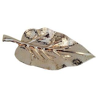Peruvian Hand Hammered Silver Leaf Catchall