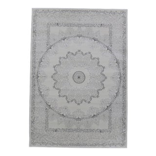 Soft Touch Shine Medallion Rug Smoke Gray 5'3''x 7'7''