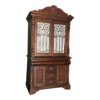 Large Curtained Armoire