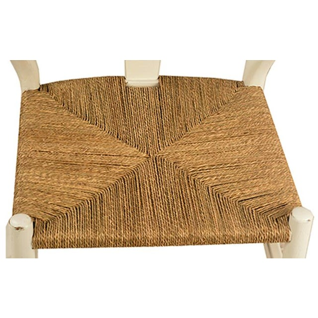 White Woven Oak Chair - Image 2 of 2