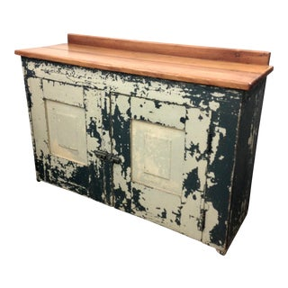 Antique Distressed Painted Sideboard