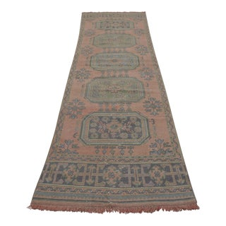 "Distressed Oushak Rug Runner - 2'11"" x 11'5"""