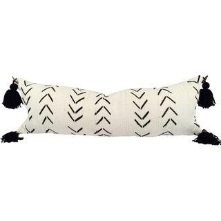 African Mudcloth Pompom Lumbar Pillow