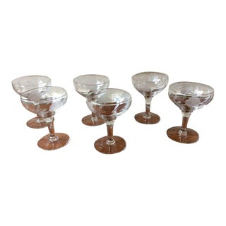 Vintage Champage / Martini Coupe Glasses - Set of 6