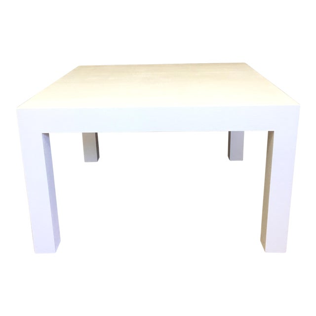 Woven Grasscloth Parsons Coffee Table - Image 1 of 6