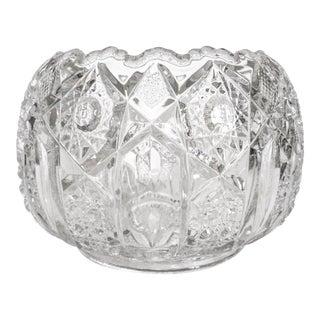 Vintage Semi-Sphere Pressed Glass Bowl