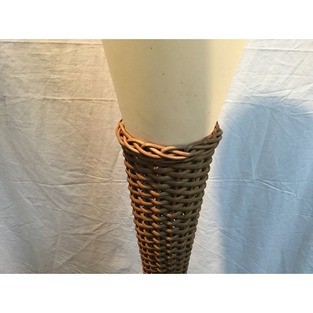 Modeline Brass and Rattan Modern Table Lamp - Image 6 of 9