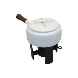 Dansk Mid Century Enamel & Cast Iron Fondue Pot