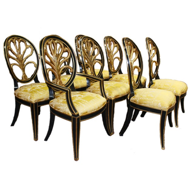 Hollywood Regency Elephant Motif Chairs - Set of 8 - Image 1 of 6