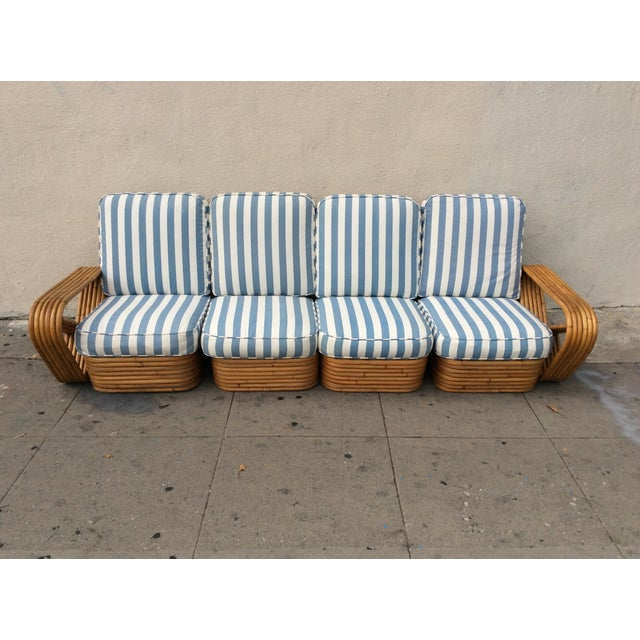 Paul Frankl Sofa ~ Paul frankl style seater rattan sofa chairish