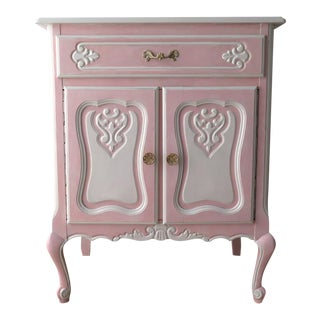 Pink Painted French Cabinet