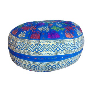 Indonesian Blue Pouf