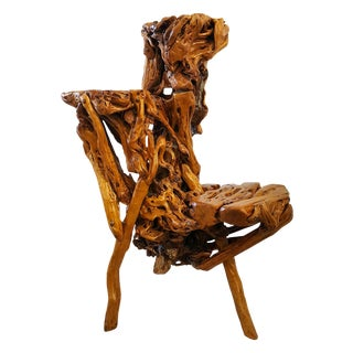 Chinese Sculptural Three Tiered Root Wood Table
