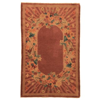 RugsinDallas Hand Knotted Wool Chinese Rug - 3′1″ × 4′10″