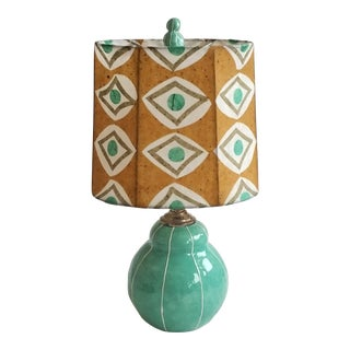 Jade Green Bubble Lamp W/Custom Shade