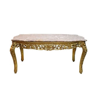 Gilt & Marble Monumental Center Table