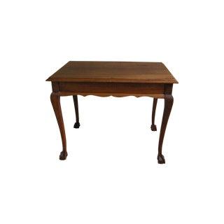 Vintage Mahogany Claw Foot Coffee Table