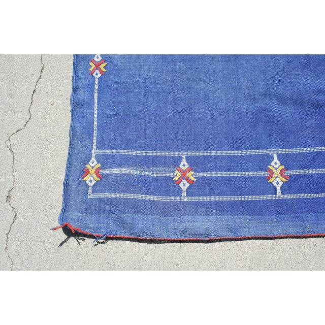 "Moroccan Indigo Blue Cactus Silk Rug- 4'5"" x 8' - Image 6 of 6"