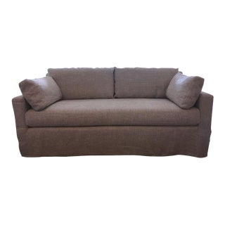 Restoration Hardware Belgian Track Arm Linen Sofa